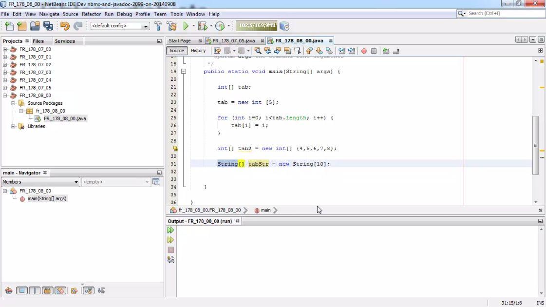 Meilleur Tuto Gratuit Java 1 2 Reussir La Certification Oca Examen 1z0 803 Declarer Instancier Et Initialiser Un Tableau A Une Dimension Alphorm Com