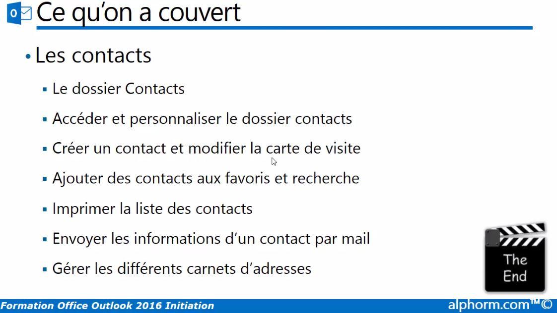 MEILLEUR TUTO GRATUIT Outlook 2016 Acqurir Les Fondamentaux
