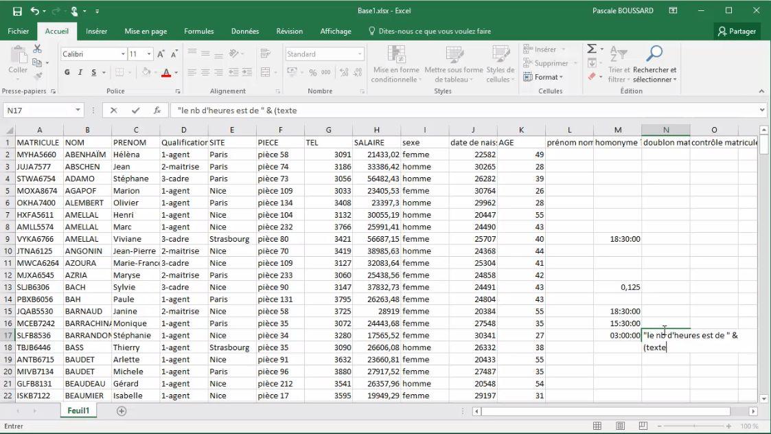 Meilleur Tuto Gratuit Excel 2016 Niveau Expert 1 2 Calculs De Type