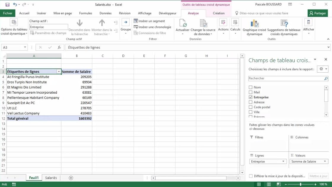 Meilleur Tuto Gratuit Excel 2016 Niveau Expert 2 2 Choisir Un Tableau Croise Dynamique Recommande Alphorm Com