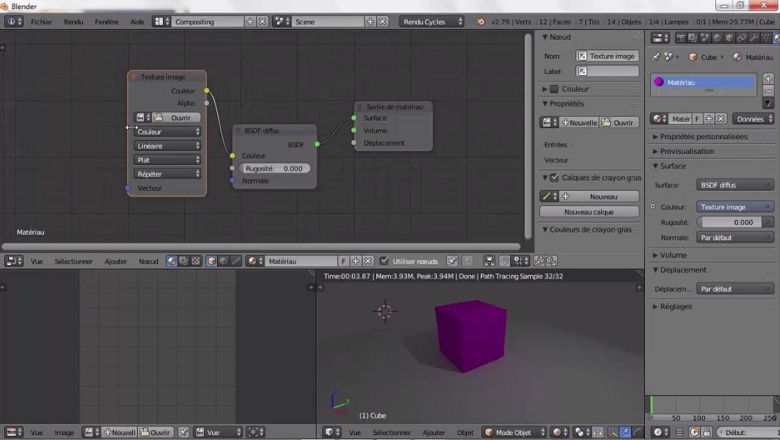 MEILLEUR TUTO GRATUIT Blender 2.7x : L'essentiel La texture image | Alphorm.com