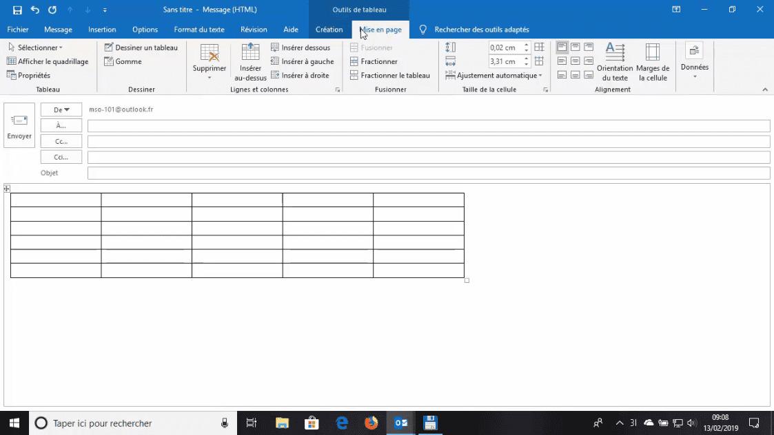Meilleur Tuto Gratuit Outlook 2019 L Essentiel Inserer Un Tableau Dans Un E Mail Alphorm Com